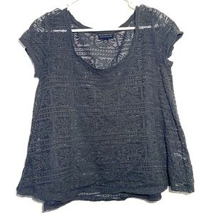 American Eagle BOHO Lace Cut Out Crop Top